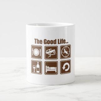 The good life large coffee mug