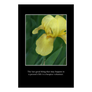 The good of a hospice volunteer poster