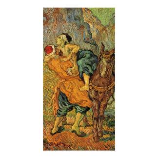 The Good Samaritan after Delacroix by van Gogh Photo Card Template