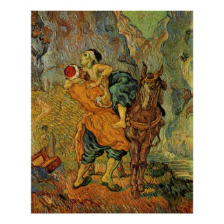 The Good Samaritan after Delacroix by van Gogh Poster