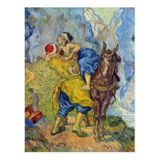 The Good Samaritan by Vincent Willem van Gogh Postcard