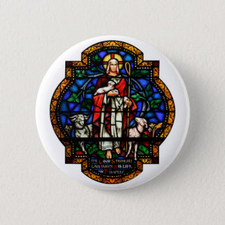 The Good Shepard lays down His Life for His Sheep 2 Inch Round Button