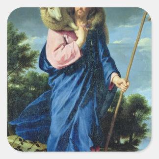 The Good Shepherd, c.1650-60 Square Sticker