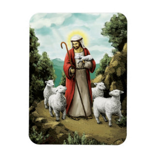 The Good Shepherd Rectangular Photo Magnet
