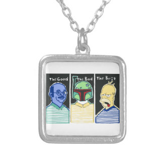 The Good The Bad The Best Silver Plated Necklace