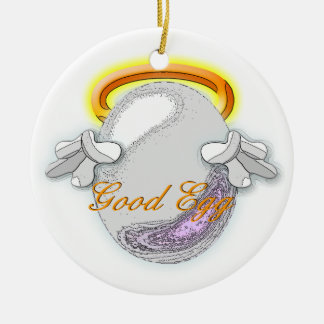 The Good vs Bad Egg Ceramic Ornament