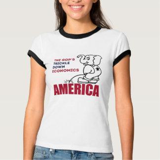 The GOP Trickle-down economics -- Anti-Trump - T-Shirt