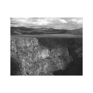 the gorge blk n white canvas print