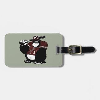 The Gorilla Baseball Club Luggage Tag