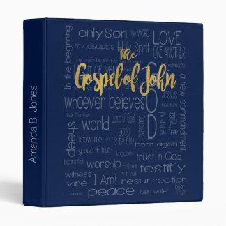 The Gospel of John, Navy Blue Vinyl Binders