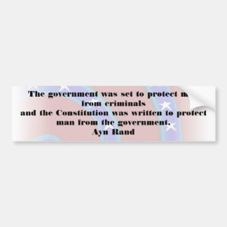 The government was set to protect man Bumper Bumper Sticker