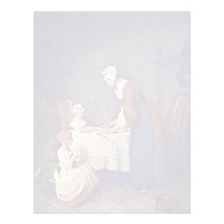 The Grace,  By Chardin Jean-Baptiste Siméon (Best Letterhead Template
