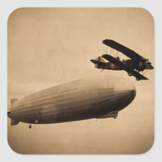 The Graf Zeppelin Approaching New York City 1928 Square Sticker
