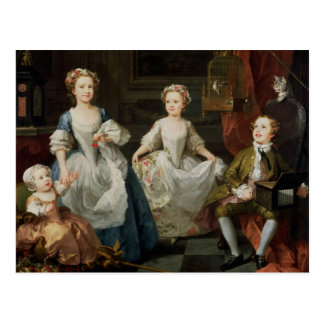 The Graham Children, 1742 Postcard