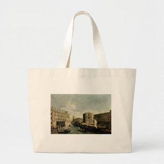 The Grand Canal at Rialto by Canaletto Jumbo Tote Bag