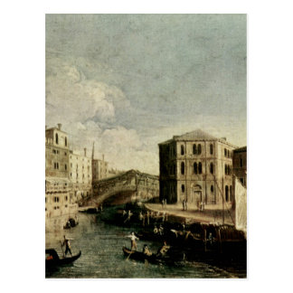 The Grand Canal at Rialto by Canaletto Postcard