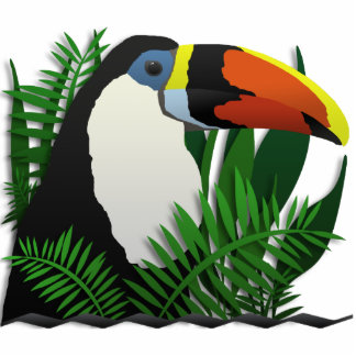 The Grand Toucan Standing Photo Sculpture