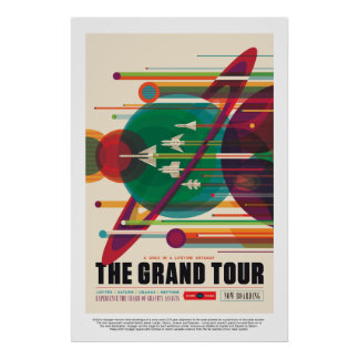 The Grand Tour Jupiter Saturn Uranus and Neptune Poster