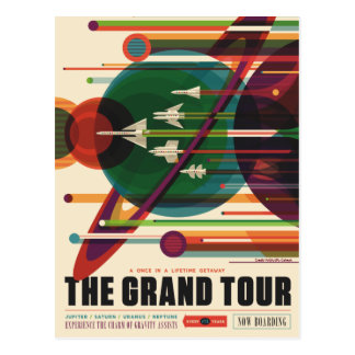 The Grand Tour - Retro NASA Travel Poster Postcard
