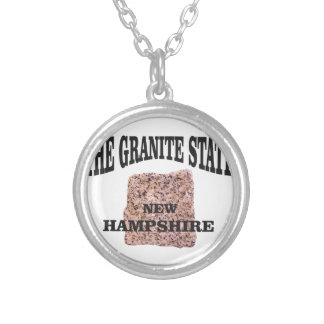 The granite state NH Silver Plated Necklace