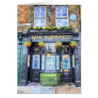 The Grapes Pub London Art Card