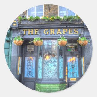 The Grapes Pub London Classic Round Sticker