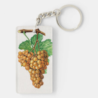 """The grapes """"terret blanc"""" keychain"""