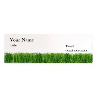 The Grass is Greener Mini Calling Card Business Card