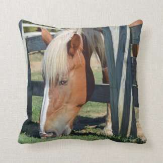 The Grass Is Greener On The Other Side Horse Throw Pillow