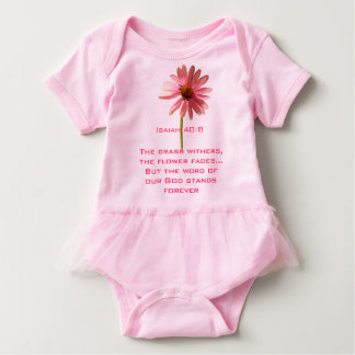 The Grass Withers, The Flower Fades... Baby Bodysuit