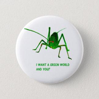 The grasshopper 2 inch round button