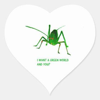 the grasshopper heart sticker