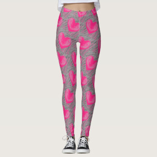 The Grays and Pinks of Love Leggings