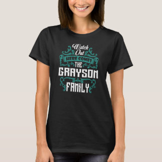 The GRAYSON Family. Gift Birthday T-Shirt