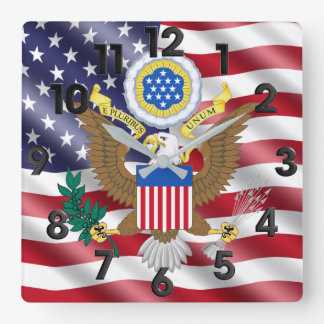 The Greal seal of the United States Square Wall Clock