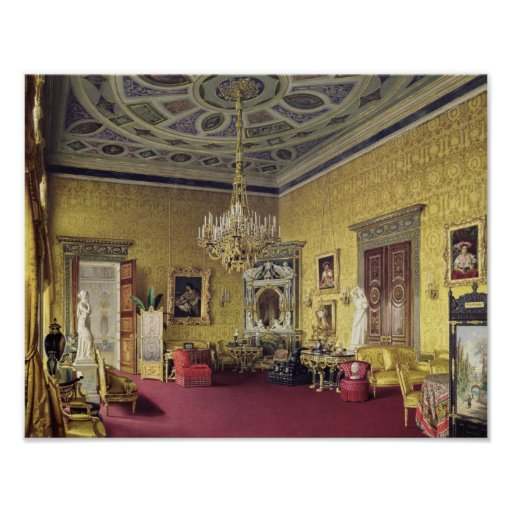 The Great Agate Hall in the Catherine Palace Poster