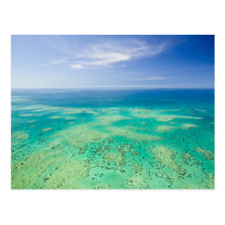 The Great Barrier Reef, aerial view of Green 2 Postcard