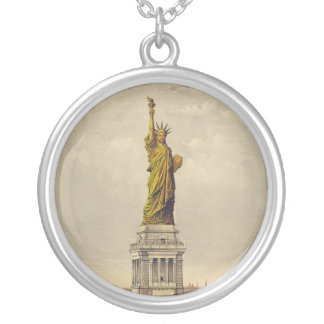 The Great Bartholdi Statue of Liberty Silver Plated Necklace