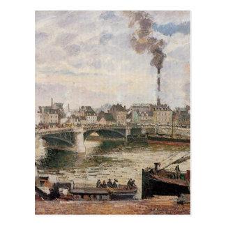 The Great Bridge, Rouen by Camille Pissarro Postcard