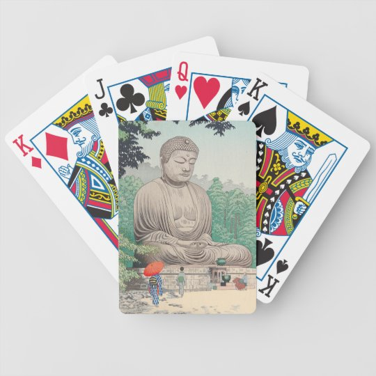 The Great Buddha at Kamakura FUJISHIMA TAKEJI Bicycle Playing Cards