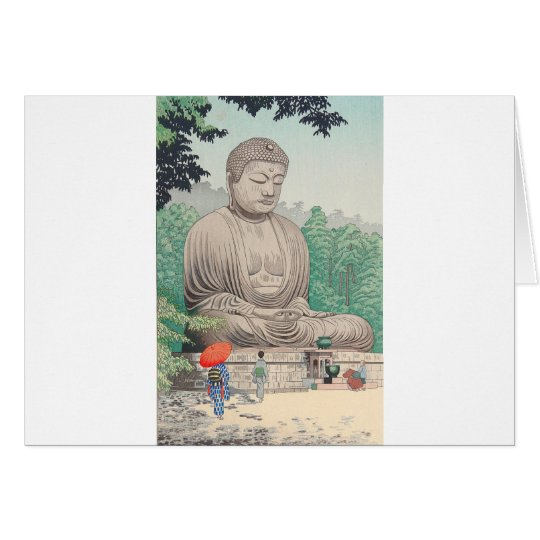 The Great Buddha at Kamakura FUJISHIMA TAKEJI Card
