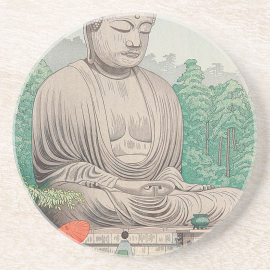 The Great Buddha at Kamakura FUJISHIMA TAKEJI Coaster