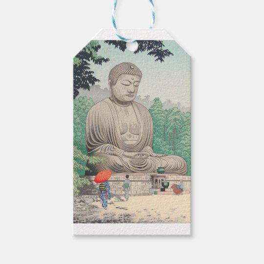 The Great Buddha at Kamakura FUJISHIMA TAKEJI Gift Tags
