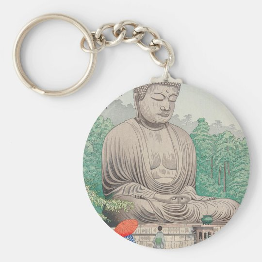 The Great Buddha at Kamakura FUJISHIMA TAKEJI Keychain