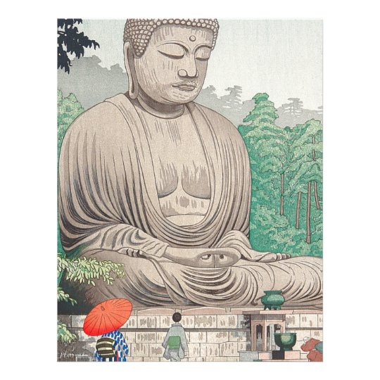 The Great Buddha at Kamakura FUJISHIMA TAKEJI Letterhead