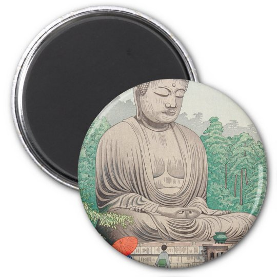 The Great Buddha at Kamakura FUJISHIMA TAKEJI Magnet