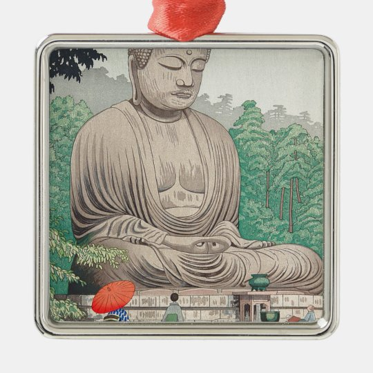 The Great Buddha at Kamakura FUJISHIMA TAKEJI Metal Ornament