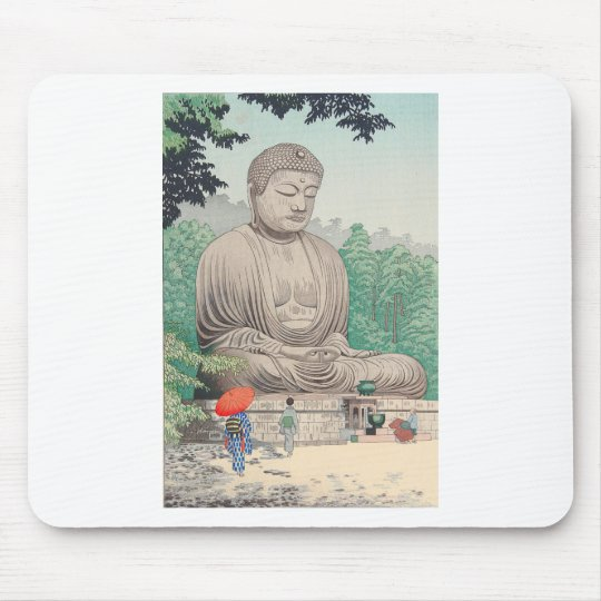 The Great Buddha at Kamakura FUJISHIMA TAKEJI Mouse Pad
