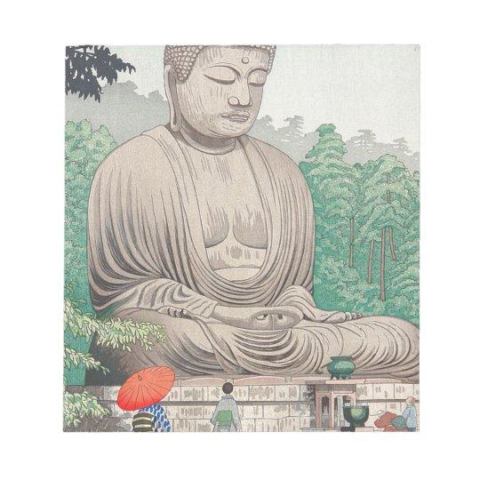 The Great Buddha at Kamakura FUJISHIMA TAKEJI Notepad