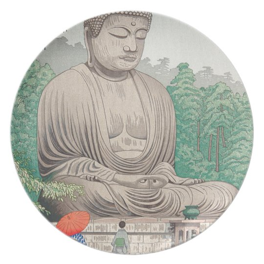The Great Buddha at Kamakura FUJISHIMA TAKEJI Plate